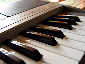 A Roland EXR-3 Arranger Keyboard
