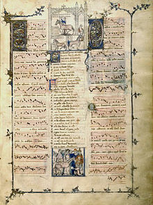 Page Of The French Mcript Livres De Fauvel Paris B N Fr 146 Ca 1318 First Practical Source Ars Nova Music
