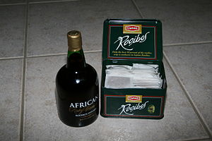 A Rooibos-infused liqueur and Rooibos tea