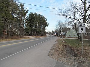 Maine State Route 5 - SR 5 southbound in Saco