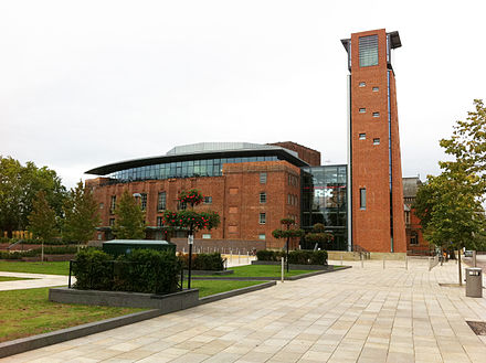 Renovated Royal Shakespeare Theatre in Stratford-upon-Avon in 2011 Royalshakespearetheatre-080911.jpg