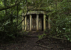 Baron Hill, Anglesey - A colonnade in the grounds of Baron Hill