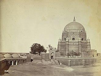 Tomb of Shah Rukn-e-Alam - Image: Rukn e Alam Tomb Multan 1865