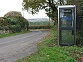 Rural phone box south of Bull's Hill - geograph.org.uk - 610154.jpg