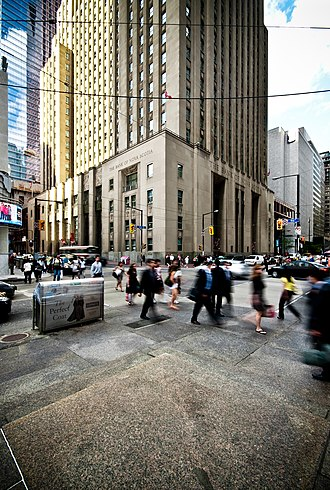 Bay Street - The intersection of Bay Street and King Street is considered the heart of Canada's financial industry