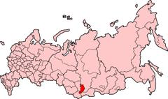 Położenie na mapie Rosji