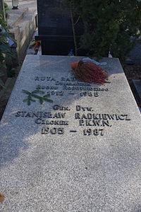 Ruta Radkiewicz, Stanisław Radkiewicz (grób).JPG
