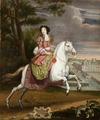 Ryttarporträtt på Catrine de Neuville Comtesse d´Armagnacq, 1670-tal - Livrustkammaren - 100375.tif