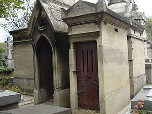 Charles Deval - Sepulture of Charles Deval at Montmartre Cemetery in Paris.