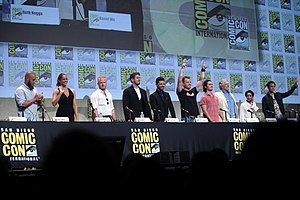 Warcraft (film) - The cast of Warcraft at the 2015 San Diego Comic-Con to promote the film.