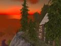 SL - ciel rougeoyant et château virtuels.png
