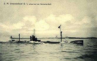 SM U-1 (Germany) - Image: SM U 1 800px