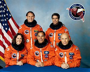 Sonny Carter - Sonny Carter (standing row, left) with his STS-33 crewmates