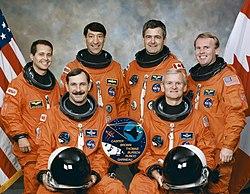 v.l.n.r. Daniel Bursch, Curtis Brown, Mario Runco, Marc Garneau, John Casper, Andrew Thomas