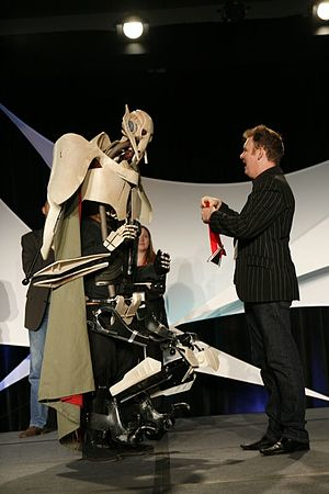 Technology in Star Wars - A fan made replica costume of General Grievous, whose entire body is mechanical.