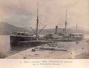 Weh Island - SS Sumatra docked at Sabang in c. 1895