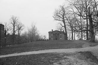Science Hill (Yale University) - The Hillhouse family mansion at the present-day site of Kline Biology Tower