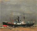 SaekiYūzō-1926-Steamboat.png