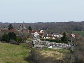 A general view of Saint-Mesmin