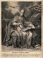 Saint Gregory the Great. Engraving by Houatt after A. Dieu. Wellcome V0032167.jpg