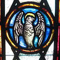 Saint Peter Catholic Church (Millersburg, Ohio) - stained glass, Eagle of St. John.jpg
