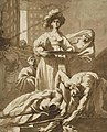 Salome with the Head of John the Baptist by Nicolaes Knüpfer, drawing.jpg