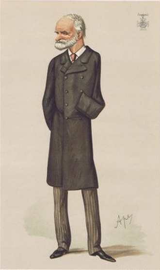 "Sam Browne - ""Sir Sam""; caricature by ""Ape"", published in ''Vanity Fair'', 5 February 1887"