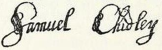 Samuel Chidley - Image: Samuel Chidley signature