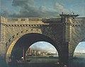 Samuel Scott, Une arche du pont de Westminster, v. 1750, huile sur toile, 135,7 x 163,8 cm, Londres, Tate Gallery, T0119.jpg
