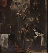 San Pedro de Alcántara confesando a Santa Teresa, de José García Hidalgo (Museo del Prado).jpg