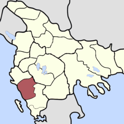 Location of Sanjak of Delvina
