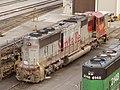 "Santa Fe ""War Bonnet"" liveried SD75M 8250, Twin Cities Yard, MN.jpg"