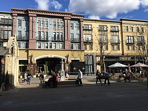 Santana Row - Santana Row Plaza is a central open space in the district.