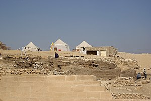 Hesy-Ra - Archaeological excavation at the Mastaba of Hesy-Ra in November 2010