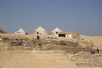 Mastaba of Hesy-Re - Excavations at the Mastaba of Hesy-re in November 2010.