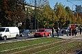 Sarajevo Tram Westbound-Stop-Univerzitet 2011-10-18.jpg