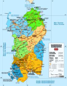 Mappa amministrativa de sa Sardigna