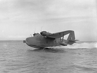 No. 209 Squadron RAF - Lerwick L7265, 'WQ-Q' of 209 Squadron. Taking off from Loch Ryan, March 1941