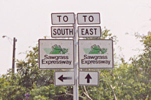 Florida State Road 869 - The original Sawgrass Expressway road signs