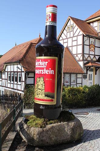 Schierker Feuerstein - Large mockup of a bottle of Schierker Feuerstein