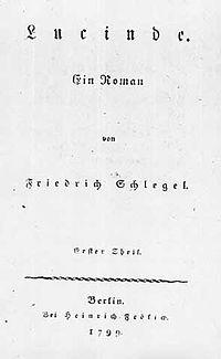 Titelblatt der Erstausgabe von Lucinde