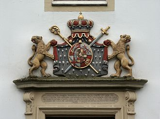 Signage - A coat of arms at Castle Borbeck