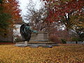 Schoonmaker monument with autumn leaves, Homewood Cemetery, 02.jpg