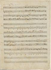 Analytische Abschrift der Fuge c-Moll aus J. S. Bachs Wohltemperiertem Klavier I (Quelle: Wikimedia)