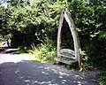 Seat-sculpture beside Tarka Trail - geograph.org.uk - 37920.jpg