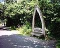 Seat-sculpture beside Tarka Trail - geograph.org.uk - 37920.jpg