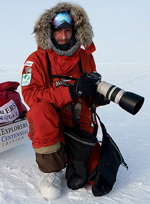 Sebastian Copeland - Image: Sebastian Copeland stands at the geographical North Pole 2009