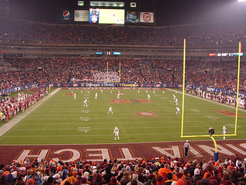 File:Second half kickoff, 2010 ACC Championship Game.JPG