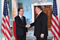 Secretary Pompeo shakes hand with Filipino Foreign Affairs Secretary Cayetano (42892807242).png