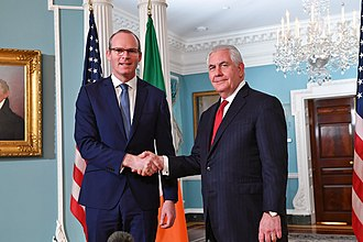 Simon Coveney - Coveney with US Secretary of State Rex Tillerson in 2018